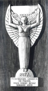 Trophée Jules Rimet créé par le sculpteur Albert Lafeur