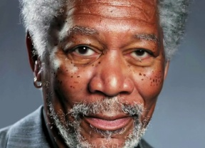 Morgan Freeman dessiné avec une tablette