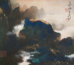 Zhang Daqian Spring Cloud and Morning Mist 001