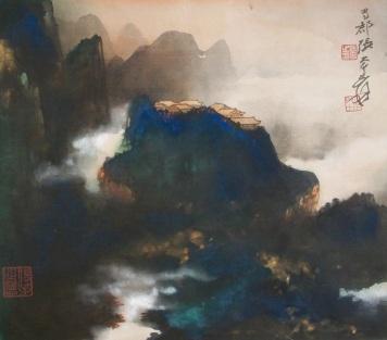 Zhang Daqian Spring Cloud and Morning Mist 001