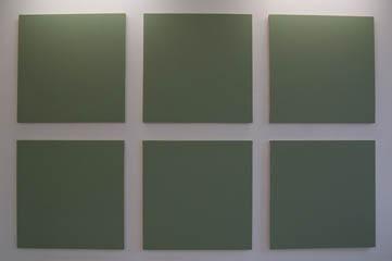 """Olivier Mosset - """"Sans titre"""" huile sur toile ©Galerie les Filles du Calvaire"""