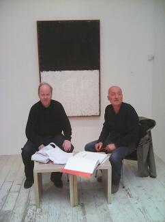 Bernard Zürcher et Giorgio Fidone à la Galerie Zürcher, le 21 avril 2016.