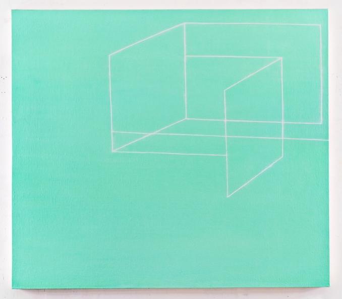 Paul Pagk, Link, 2003-2006, Huile sur toile , 168 x 188 cm, Collection Le Bon Marché, Action mécénat 2008, Courtesy galerie Eric Dupont, Paris.