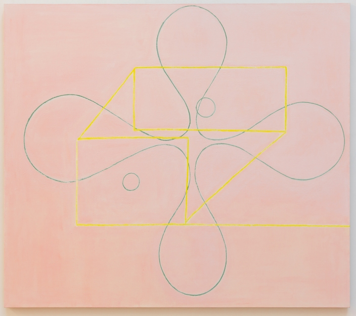Paul Pagk, Two Circles, huile sur toile, 65 x 74 inches, photographe Jean-François Rogeboz, © galerie Eric Dupont, Paris