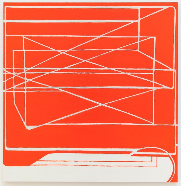 Paul Pagk, Untitled Red Desert 2015, 193 x 187,9 cm, huile sur toile, photographe Jean-françois Rogeboz, © galerie Eric Dupont, Paris