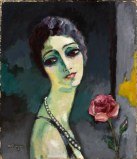 Portrait de Madeleine Grey à la rose - 1929