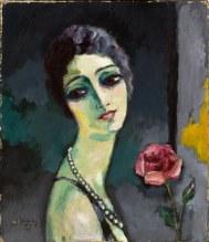Portrait de Madeleine Grey à la rose - 1929