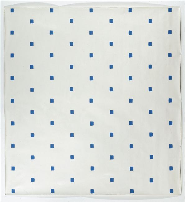 """Oeuvre réalisée et présentée pour """"Manifestation III"""", Salle de conférence du Musée des Arts décoratifs, Paris, avec Buren, Mosset, Parmentier, le 2 juin 1967. Groupe BMPT"""