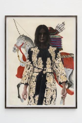 Iris VAN DONGEN Horse 2016 gouache, pastel sec, fusain 143,5 x 111,5 cm (encadré) pièce unique courtesy Galerie Bugada & Cargnel, Paris photo : Martin Argyroglo