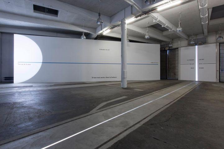 Isabelle LARTAULT et Michel VERJUX Correspondances 2015 Exposition en duo, vue partielle, Lokremise, Kunstmuseum Saint-Gall Photo : Stefan Rohner