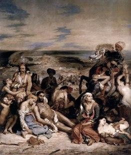 """Eugène Delacroix : """"Massacre à Chios"""" 1824"""