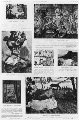 Press clipping, Les Fauves: Exhibition at the Salon d'Automne, in L'Illustration, 4 November 1905. wikimedia.commons.org, cons. 4/03/19