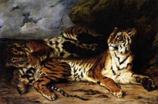 "Eugène Delacroix : ""A Young Tiger Playing with its Mother"", 1830, commons.wikimedia.org (cons.4/03/19)"