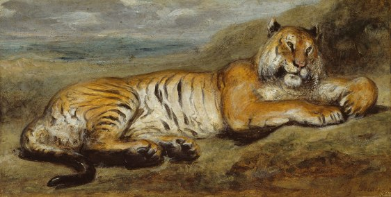 "Pierre Andrieu, ""Tiger Resting"", 1825–1835, https://www.artic.edu/artworks/884/tiger-resting (cons.4/03/19)"