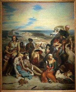 """Pierre Andrieu : copie du tableau """"Massacre à Chios"""""""