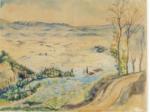"""""""La Plaine à Settignano"""" Esquisse préparatoire à la fresque pour Bernard Berenson, https://bit.ly/2XWyy9L"""