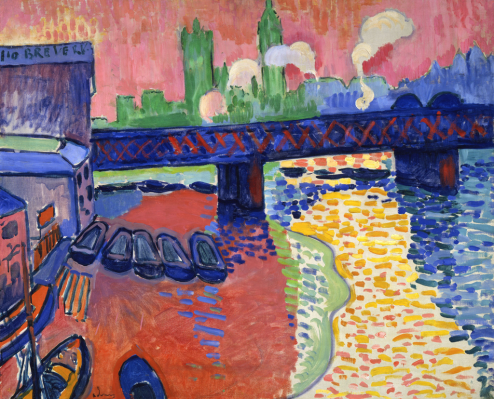 André Derain, 1906, Charing Cross Bridge, London, National Gallery of Art, Washington, DC. wikimedia.commons.org, cons. 4/03/2019