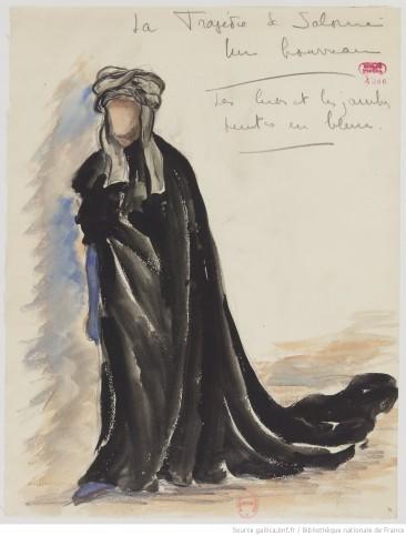 [La Tragédie de Salomé : six maquettes de costumes / par René Piot] 1919Bibliothèque nationale de France, département Bibliothèque-musée de l'opéra, D216-75 (1-6) Source : https://bit.ly/2TcTHsI