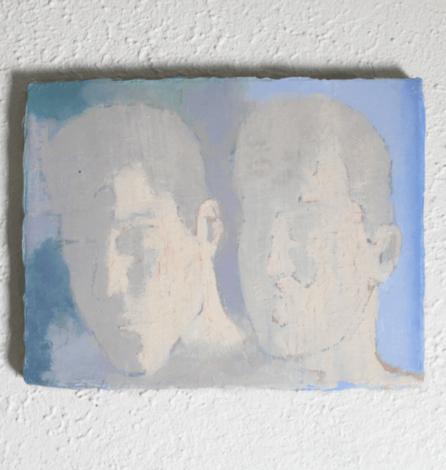 Amoureux rétroéclairés, 2018, huile sur toile , 30 x 20 cm Courtesy de l'artiste et de la galerie Jousse Entreprise, Paris