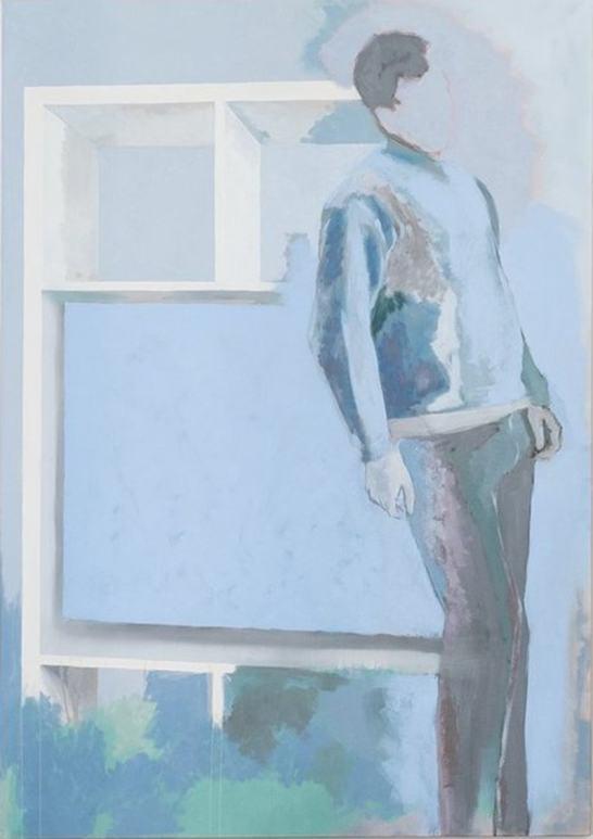 Simon Martin – KALLAX, 2018, huile sur toile, 162x114cm, Courtesy de l'artiste et de la galerie Jousse Entreprise, Paris