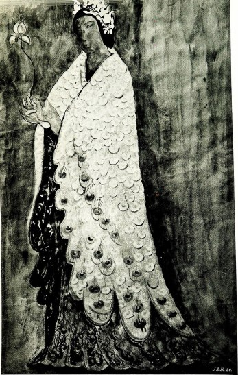 Costume for Le Chagrin dans le palais de han by René Piot